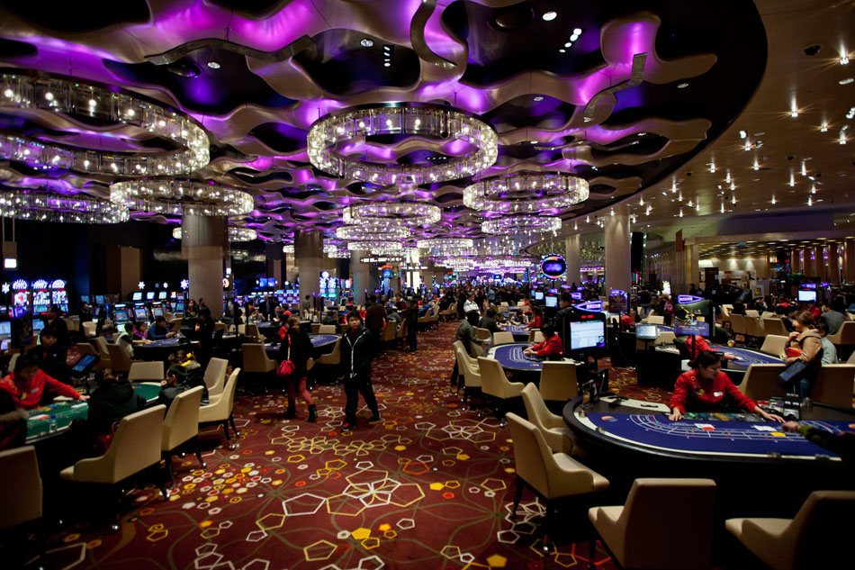 The main casino floor of the City of Dreams is one of the largest in Macau.